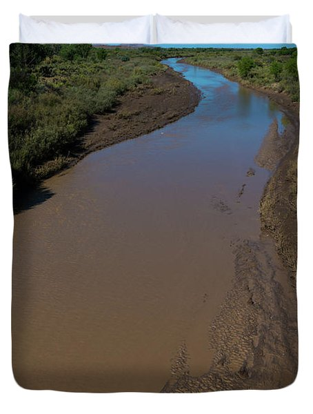 Puerco River Flows Duvet Cover