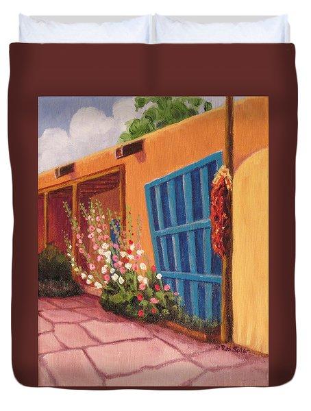 Puerta Azul En Taos Duvet Cover