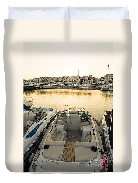 Puerto Banus Duvet Cover by Perry Van Munster