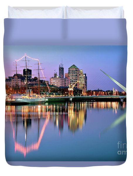 Duvet Cover featuring the photograph Puerto Madero I by Bernardo Galmarini