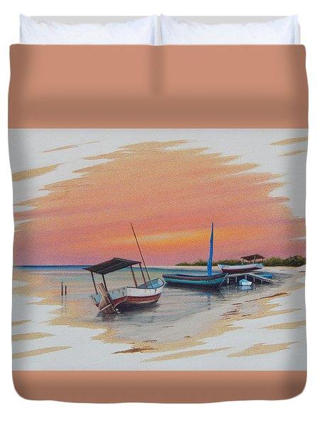 Puerto Progreso V Duvet Cover by Angel Ortiz