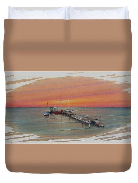 Puerto Progreso Vl  Duvet Cover by Angel Ortiz