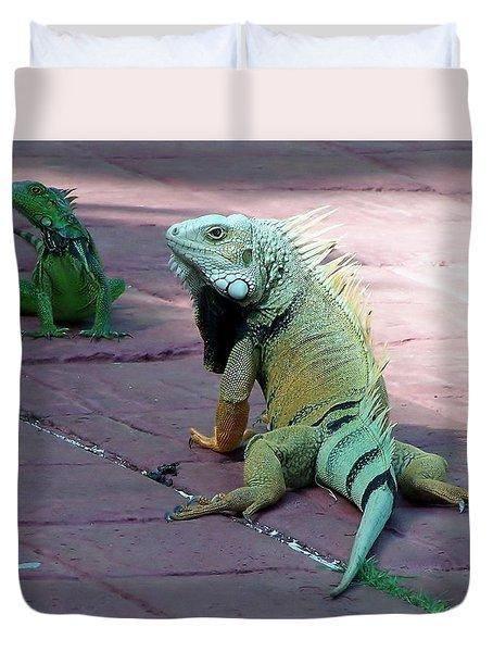 Puerto Rican Iguana Duvet Cover