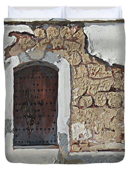 Puerto Rico Door Duvet Cover