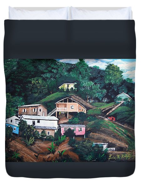 Puerto Rico Mountain View Duvet Cover by Luis F Rodriguez