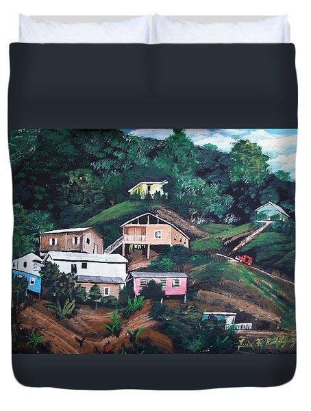 Puerto Rico Mountain View Duvet Cover