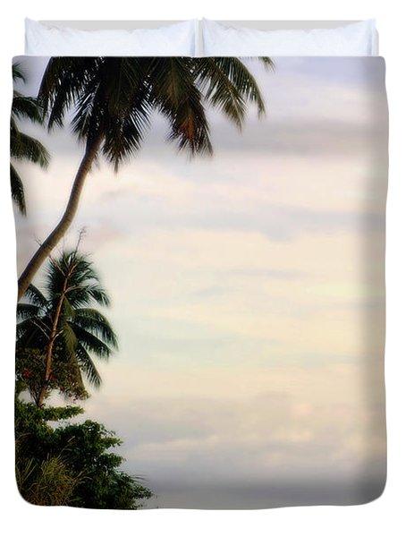 Puerto Rico Palms Duvet Cover by Madeline Ellis