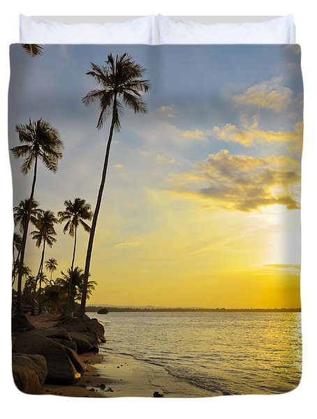 Puerto Rico Sunset Duvet Cover by Stephen Anderson