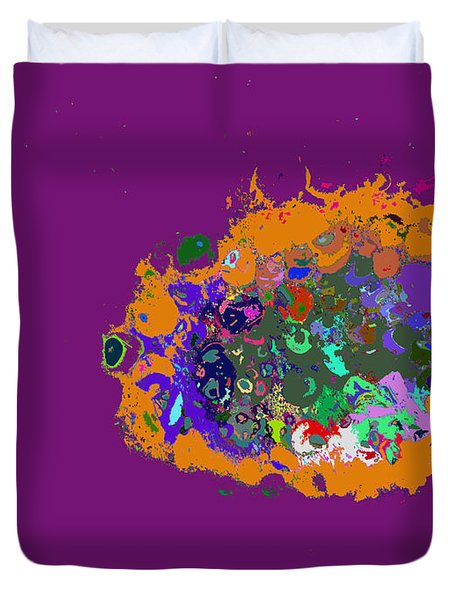 Puff Of Color Duvet Cover