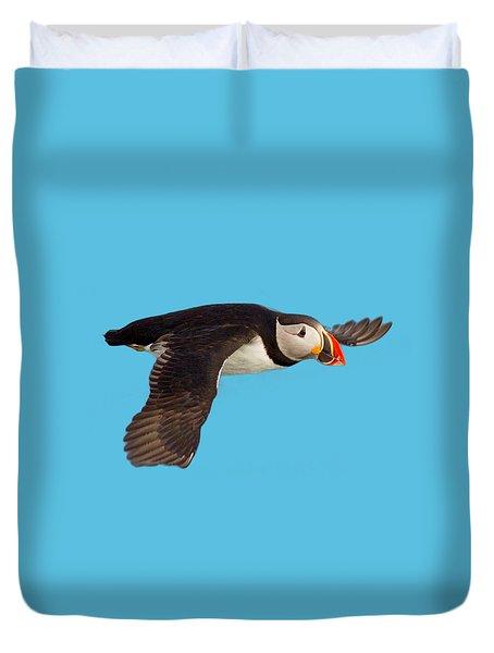 Puffin In Flight T-shirt Duvet Cover