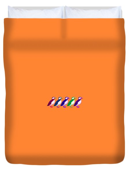 Puffins Apparel Design Duvet Cover