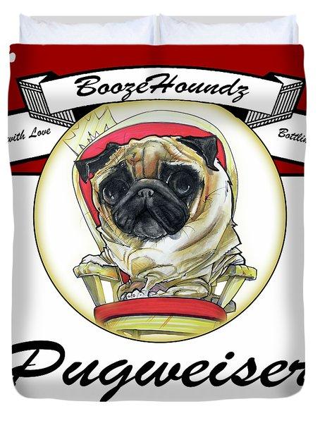 Pugweiser Beer Duvet Cover