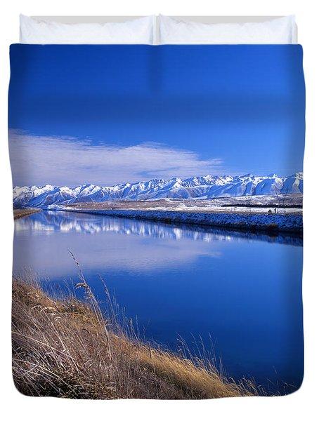 Pukaki Canal  Duvet Cover