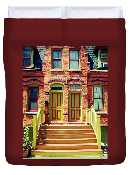 Pullman National Monument Row House Duvet Cover by Kyle Hanson
