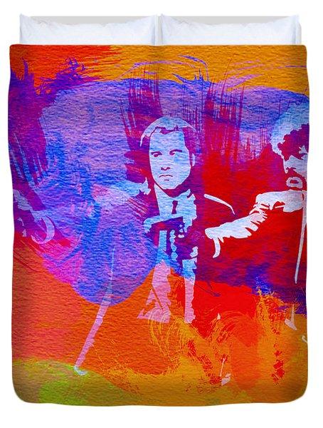 Pulp Fiction 2 Duvet Cover by Naxart Studio