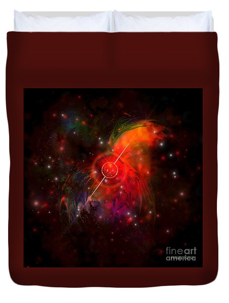 Pulsar Duvet Cover by Corey Ford