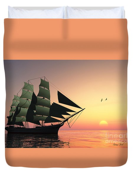 Pulse Of Life Duvet Cover by Corey Ford