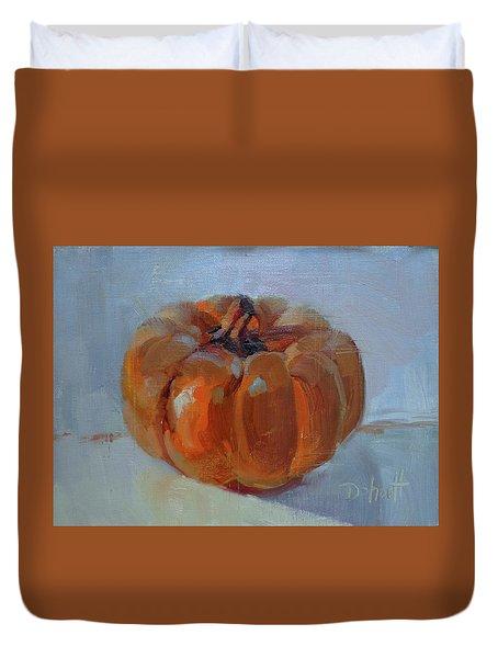 Pumpkin Alone  Duvet Cover by Donna Shortt