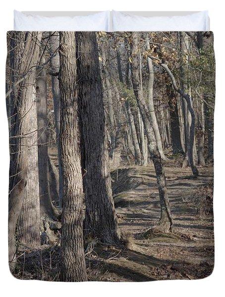 Pumpkin Ash Trail Duvet Cover