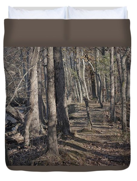 Pumpkin Ash Trail Duvet Cover