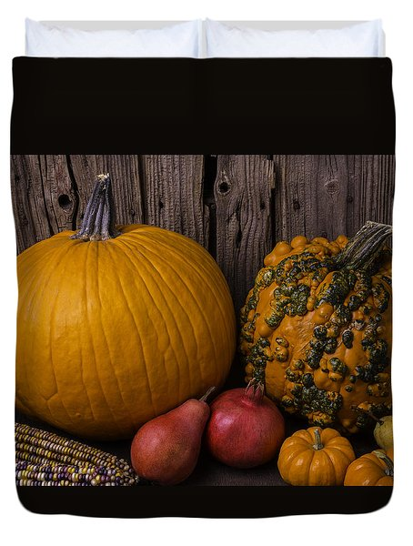 Pumpkin Autumn Still Life Duvet Cover