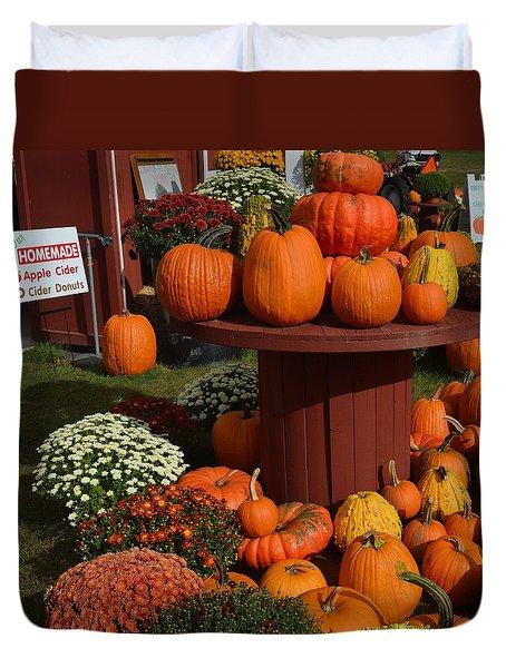 Pumpkin Display Duvet Cover