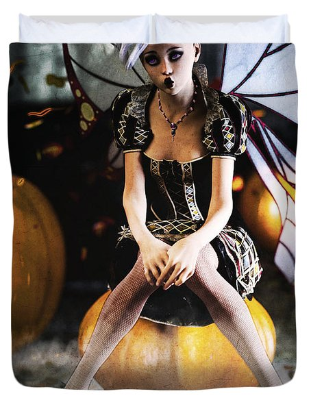 Pumpkin Fairy Duvet Cover