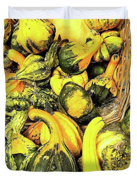 Pumpkin Family Duvet Cover