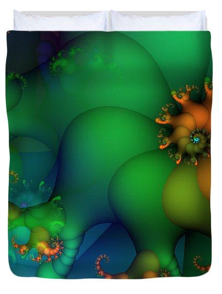 Pumpkin Garden Duvet Cover by Jutta Maria Pusl