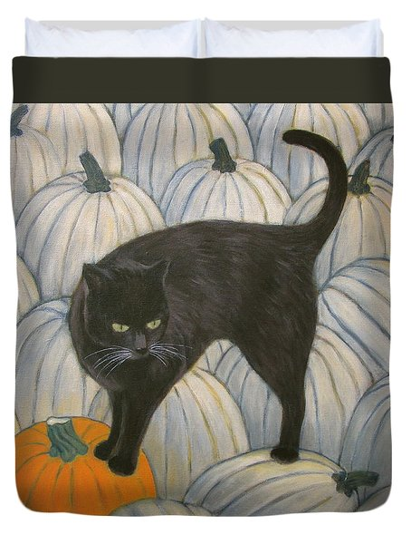 Pumpkin Keeper Duvet Cover