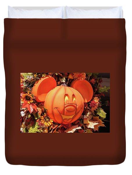 Pumpkin Mickey Duvet Cover by Pamela Williams