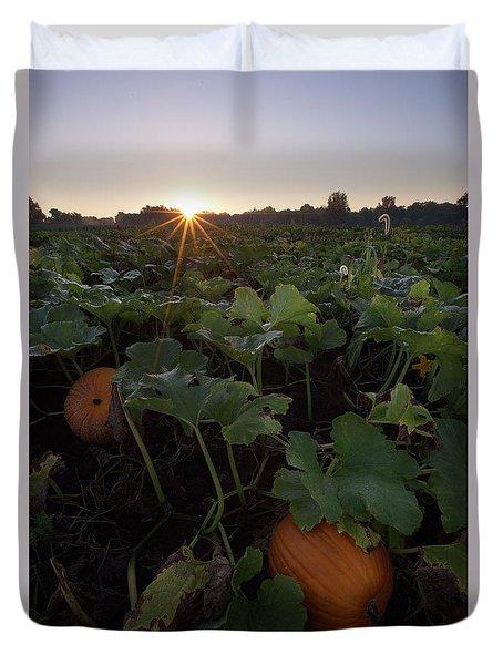 Pumpkin Patch Duvet Cover by Aaron J Groen