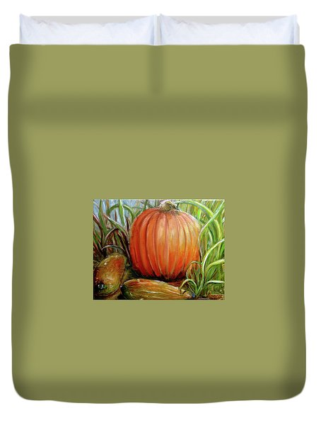 Pumpkin Patch  Duvet Cover by Bernadette Krupa