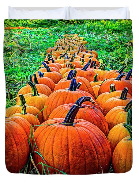 Pumpkin Patch Duvet Cover by Dale R Carlson