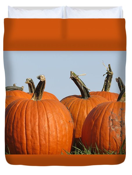 Pumpkin Patch II Duvet Cover by Kyle West