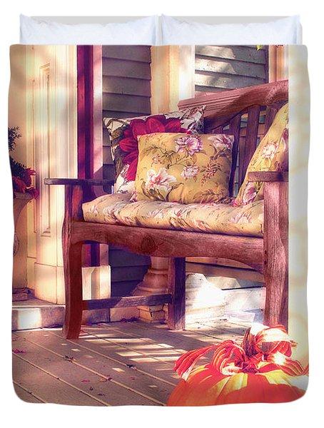 Pumpkin Porch Duvet Cover