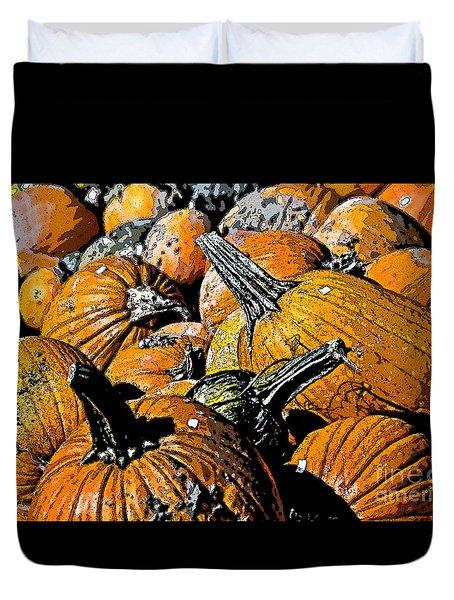 Pumpkin Sale  Duvet Cover by Juls Adams