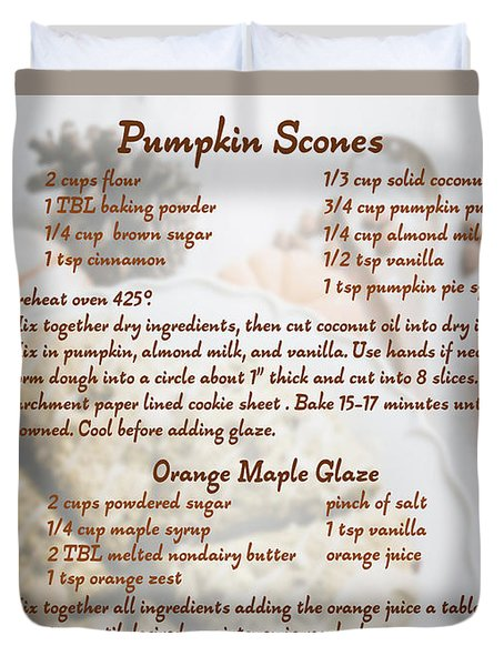 Pumpkin Scones Recipe Duvet Cover