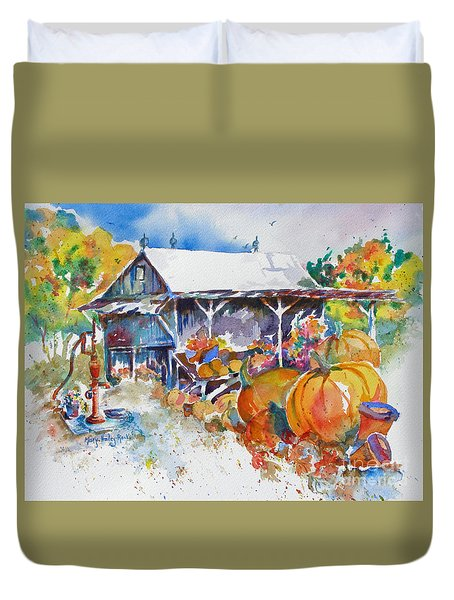 Pumpkin Time Duvet Cover by Mary Haley-Rocks