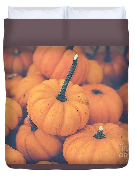 Pile O' Pumpkins Duvet Cover