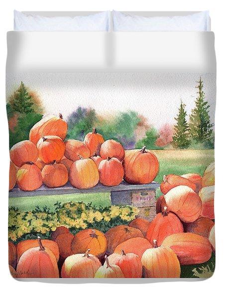 Pumpkins For Sale Duvet Cover