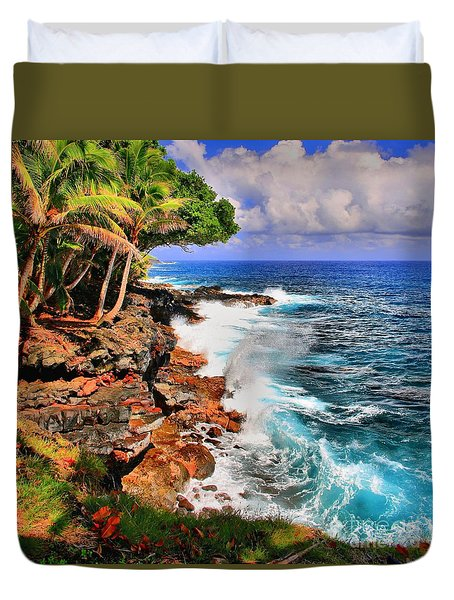Duvet Cover featuring the photograph Puna Coast Hawaii by DJ Florek