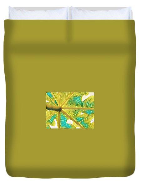 Puna Papaya Leaf Duvet Cover