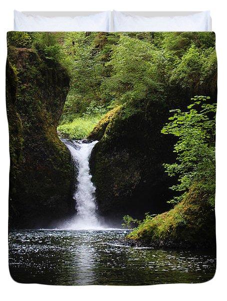 Punchbowl Falls Signed Duvet Cover