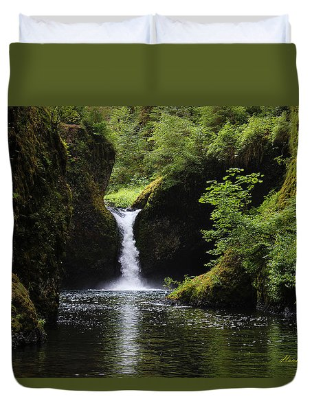 Punchbowl Falls Signed Duvet Cover