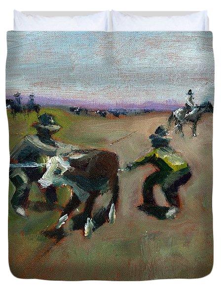 Punchin Doggies Duvet Cover