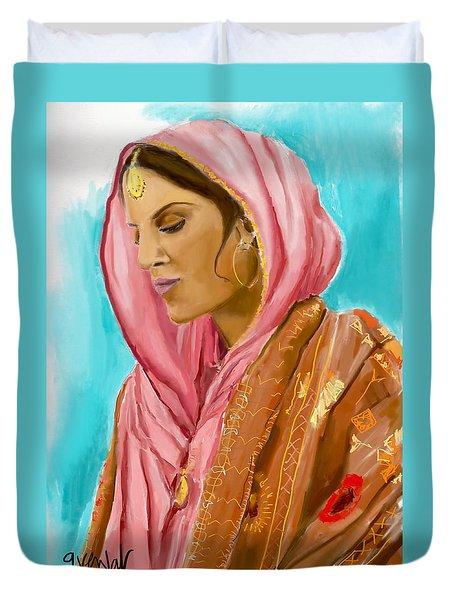 Punjabi Beauty Punjaban Duvet Cover