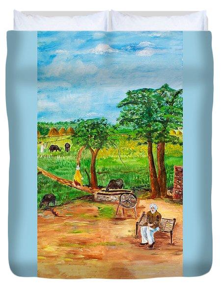 Punjabi Farmer Duvet Cover