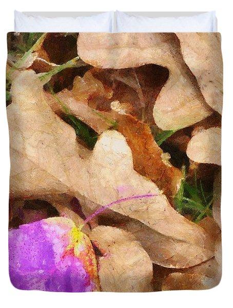Punk Leaf Duvet Cover by Jeff Kolker