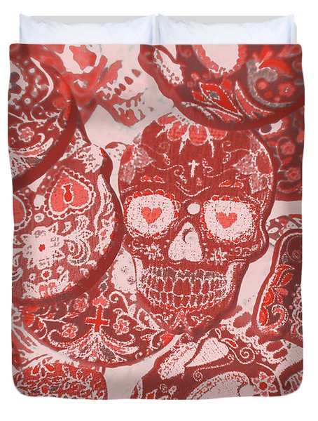 Punks Of Skull Love Duvet Cover